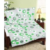 Povlaky flanel Ornela zelená skladem 4 ks, Výběr rozměru: 45x60