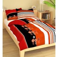 Přehoz přes postel jednolůžkový Terče červenočerné, Výběr rozměru: 140x220cm