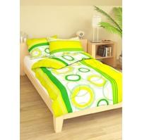 Přehoz přes postel jednolůžkový Planety zelenožluté, Výběr rozměru: 140x220cm