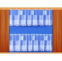 Záclona Kostky výška 40 cm (bílá)