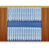 Záclona Kytice výška 40 cm (bílá)
