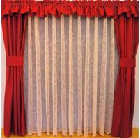 Záclona kusová - Vlnění 160x300 cm (kapučíno)