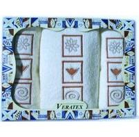 Dárkově balené vyšívané ručníky s osuškou ( 1-bílá)