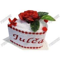 Textilní dort zákusek se jménem 30x50cm 14 barev