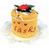 Textilní dorty  s výšivkou Z lásky (výběr ze 20 barev ručníků)