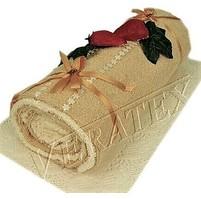 Textilní dort Roláda béžová
