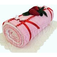 Textilní dort Roláda růžová
