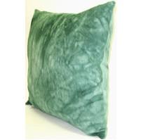 Polštářek  froté  tm.zelená batika 40x40