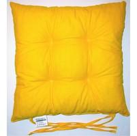 Sedák prošívaný  40x40 cm (žlutý)