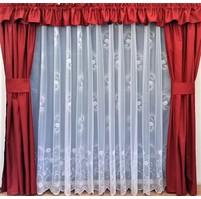 Záclona kusová - Rosa 160x300 cm (bílá)