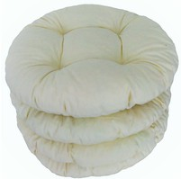 Sedák prošívaný kulatý průměr 40 cm (smetanový)