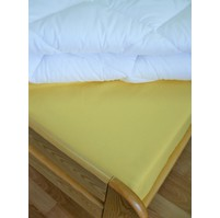 Saténové prostěradlo 90x200cm s gumou (sv.žluté)