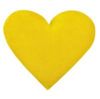 Polštářek srdce - žluté