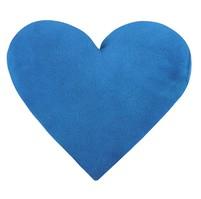 Polštářek srdce - modré