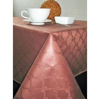 Ubrus damaškový 120x140cm (hnědé mašličky)