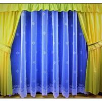 Záclona kusová - Hvězdička 240x200 cm (bílá)