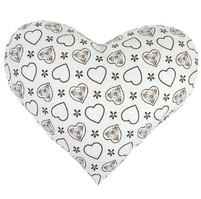 Polštářek srdce - hnědé srdce