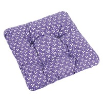Sedák ADÉLA prošívaný 40x40 cm (kytička na fialové)