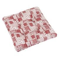 Sedák ADÉLA prošívaný 40x40 cm (červený patchwork)
