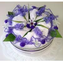 Textilní dort Levandule