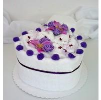 Textilní dort Srdce jednopatrový