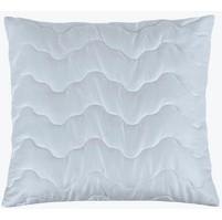 Prošívaný polštář (50x50 zip) bílý.