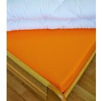 Plátěné prostěradlo s gumou 80x200 cm (oranžové)