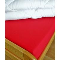 Plátěné prostěradlo s gumou 80x200 cm (cihlové-červené)