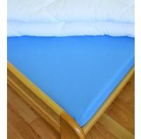 Plátěné prostěradlo s gumou 80x200 cm (modré)