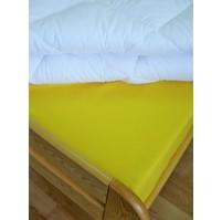 Plátěné prostěradlo s gumou 80x200 cm (citronové)