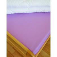Plátěné prostěradlo s gumou 80x200 cm (fialkové)