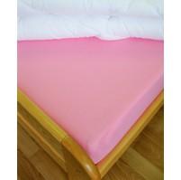 Plátěné prostěradlo s gumou 80x200 cm (růžové)