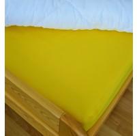 Plátěné prostěradlo s gumou 80x200 cm (sytě žluté)