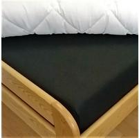 Plátěné prostěradlo s gumou 80x200 cm (černá)