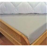 Plátěné prostěradlo s gumou 80x200 cm (šedá)