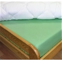Plátěné prostěradlo s gumou 80x200 cm (zelená)