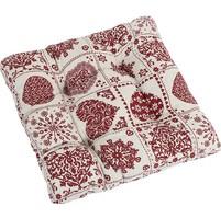 Sedák prošívaný 40x40x cm srdce patchwork