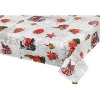 Vánoční ubrus - vánoční ozdoby 120/140cm
