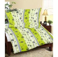 Povlaky flanel Listy zelenošedé, Výběr rozměru: 45x60