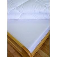 Prostěradlo flanelové s gumou  90x200 cm (bílé)