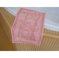 Dětský froté ručník 50x30cm Medvídek růžový