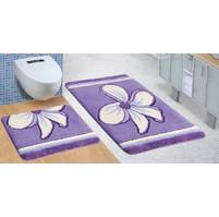 Koupelnová SADA ULTRA 60x100+60x50cm Květ fialový
