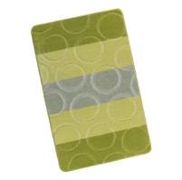 Koupelnová předložka 60x100cm Kroužky zelené