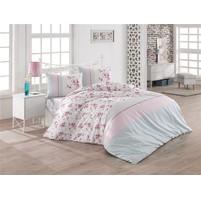 Povlečení francouzské bavlna 240x220,70x90 Elin růžová Skladem 1ks, Výběr zapínání: zipový uzávěr