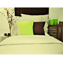 Přehoz na postel bavlna140x200 smetanový