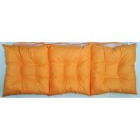 Sedák na lavici prošívaný 140 x 40 x 7,5cm oranžový