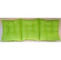 Sedák na lavici prošívaný 150 x 45 x 7,5cm žlutozelený