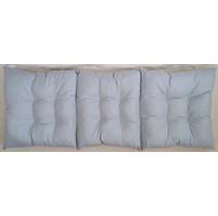 Sedák na lavici prošívaný 140 x 40 x 7,5cm šedý