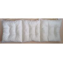 Sedák na lavici prošívaný 120 x 40 x 7,5cm smetanový