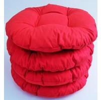 Sedák prošívaný kulatý průměr 40 cm červený